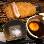 なみなみ - 芳寿豚の極上ロースとんかつ 特製黄身おろしポン酢 1200円