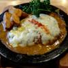 """つばめグリル - 料理写真:""""特製カレーソースのチーズハンブルグステーキ"""""""