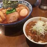 ラーメン雷鳥 - 牛すじカレー、1号ラーメン+味玉