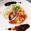 牡蠣と海老の柚子クリーム フェットチーネパスタ