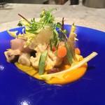 オプトゥニールケイ - コリアンダー風味の野菜のマリネと余市 鰊のノルウェー風