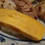 入舟 - [料理] 玉子焼き 握り ①