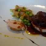 レストラン トエダ - 信州福味鶏、信州味噌、えんどう豆