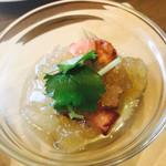 Wa-cha Wa-cha - 蕗と蛸の炊いたん 山葵風味の出汁ジュレがけ