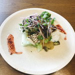 Wa-cha Wa-cha - メイン 真鯛の梅肉付け焼き 西京味噌とはちみつ梅ソース