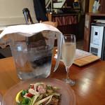 ラム&パクチー Salad days - ラムタンとセロリ 玉ネギの夏マリネ&スパークリング