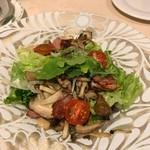 サント ウベルトゥス - キノコのサラダ
