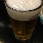 得正 - 生中ビールは☆★★☆( ´∀`)アサヒスーパードライ