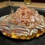 京ちゃばな - お好み焼き チーズ&白玉