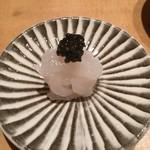 Sushiya - 白エビのキャビアのせ
