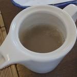 食彩工房 そばの華 - 蕎麦湯