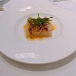 Restaurant ALADDIN - 新玉ねぎと蛍烏賊のオリーブオイルとヴィネガーソース シブレット添え