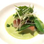 ミチノ・ル・トゥールビヨン - 鮎魚女のポアレと春のお野菜