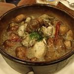 ラ・タベルナ - 鮟肝と牡蠣のアヒージョ