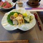 高千穂 離れの宿 神隠れ - 料理写真:前菜盛り沢山