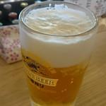 大衆馬肉酒場 ジョッキー - 生ビール。