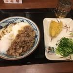 丸亀製麺 - 牛とろ玉うどん並&ほうぼう天