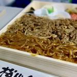 松川弁当店 - [2017/04]米沢牛肉すき焼き弁当(1150円)