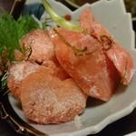 海鮮居酒や 小鉢 - タラコの山わさび漬け(ルイベでいただきます)