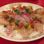 満州楼 - 白身魚のカルパッチョ@1,580