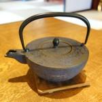 紬山荘 - 蕎麦湯