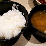 博多天ぷら たかお - ごはん&味噌汁