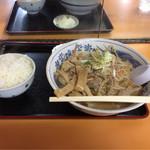 味楽軒 - 料理写真:もつラーメン全景