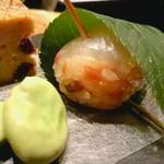銀座 匠 - お通し 松風 桜鯛手まり寿司