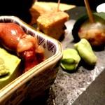 銀座 匠 - お通し 胡麻豆腐