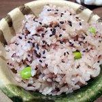 らんちょす - らんちょす。セット・赤米ご飯