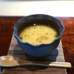 菊鮨 - 梅の茶碗蒸し