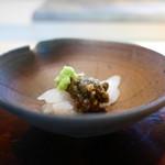 菊鮨 - アオリイカと蕗の薹味噌