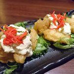 66285178 - 宮崎名物チキン南蛮 高菜タルタルのっけ
