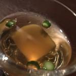 DAIGOMI - お通し:チーズを練り込んだ生麩を出汁に沈めた小鉢