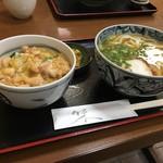 力餅 - 甘めの親子丼とうどん 計¥650