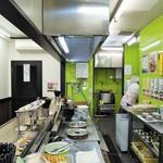 都そば - 整理整頓された厨房