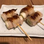 広島お好み焼き・鉄板焼き 倉はし - 軟ネギの肉巻き