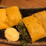 広島お好み焼き・鉄板焼き 倉はし - じゃこ入りだし巻き卵