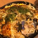 広島お好み焼き・鉄板焼き 倉はし - 豚玉ちゃんぽん