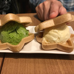 広島お好み焼き・鉄板焼き 倉はし - 抹茶とバニラ