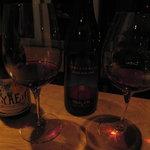 ワインと天婦羅 あら木 - グラスワイン赤2種類