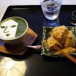 よーじやカフェ 銀閣寺店 - 抹茶カプチーノとわらび餅