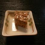 角三 - お通し(鯖の卵煮こごり)