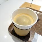 ボン ヴィヴァン ベイキングファクトリー - モーニングセット650円のホットコーヒー