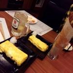 旨唐揚げと居酒メシ ミライザカ - カリカリパスタ(チーズ味)&出しまき玉子