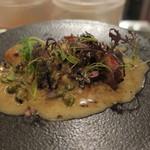 PEP - 牡蠣のプランチャ パンセタと芽キャベツのソース2