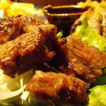 納屋之炭 - 牛肉3種盛 牛カルビ