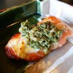 東京 芝 とうふ屋うかい - 鱒ふき味噌焼 ふき味噌がほろ苦がまたいい