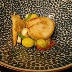 66299151 - 北海道産生ホタテと旬菜の柚子香り炒め