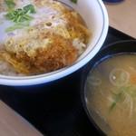 かつや - かつ丼(梅)と豚汁(小)